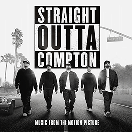 Straight outta compton's movie poster across all theatres