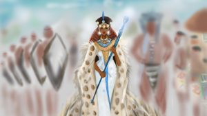 An illustration of the upcoming series on African queens by Nicholle Kobi
